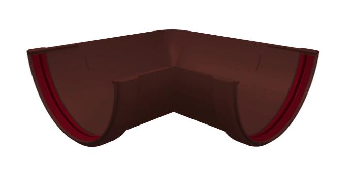 Угол желоба 90°-150° универсальный 120x87 мм Коричневый Grand Line