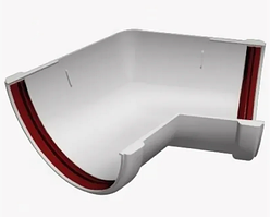 Угол желоба 135° универсальный 120x85 мм Белый Grand Line