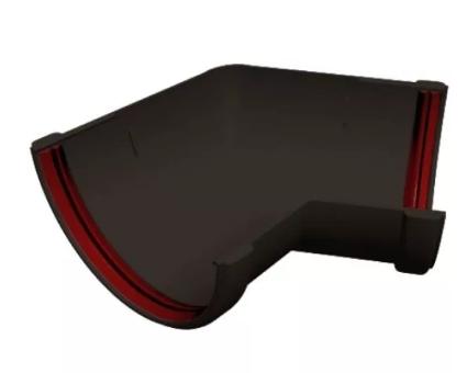 Угол желоба 135° универсальный 120x87 мм Коричневый Grand Line
