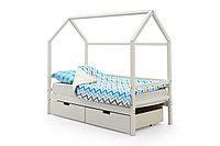 Детская кровать домик «Svogen белый»