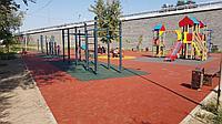 Площадка с резиновым покрытием 300 м2 (толщина покрытия 1,5 см)