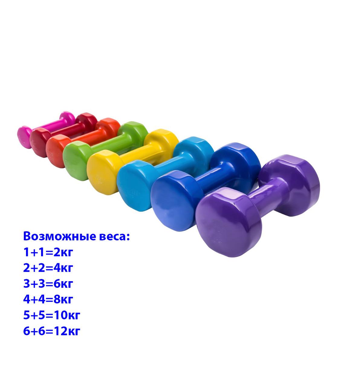 Фитнес гантели по 4кг