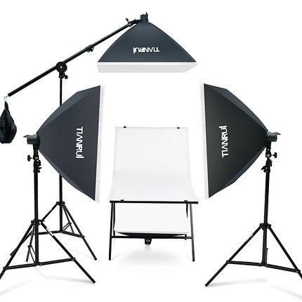 Софтбокс (комплект 3 шт.+фотостол), фото 2