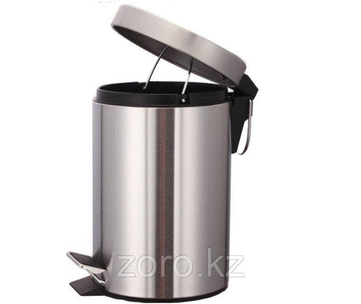 Педальная урна 12 литров (хром)