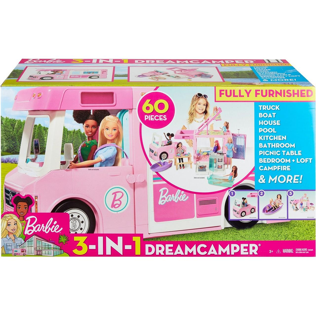 Barbie Кукольная машина Барби Дом мечты на колесах
