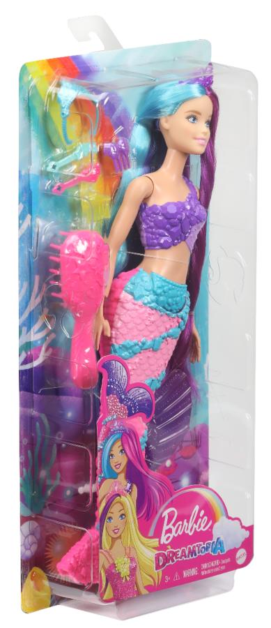 """Barbie """"Дримтопия"""" Кукла Барби Прицесса-Русалка с прекрасными волосами, в сиреневом топе"""