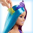 """Barbie """"Дримтопия"""" Кукла Барби Прицесса-Русалка с прекрасными волосами, в сиреневом топе, фото 5"""