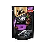 Sheba Pleasure ломтики в соусе, говядина и кролик, пауч 85гр.