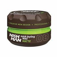 Воск для волос NISHMAN 08 MATTE LOOK 100 МЛ (чёрная ваниль)
