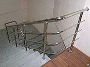 Перила стеклофибробетон хромированное для лестниц