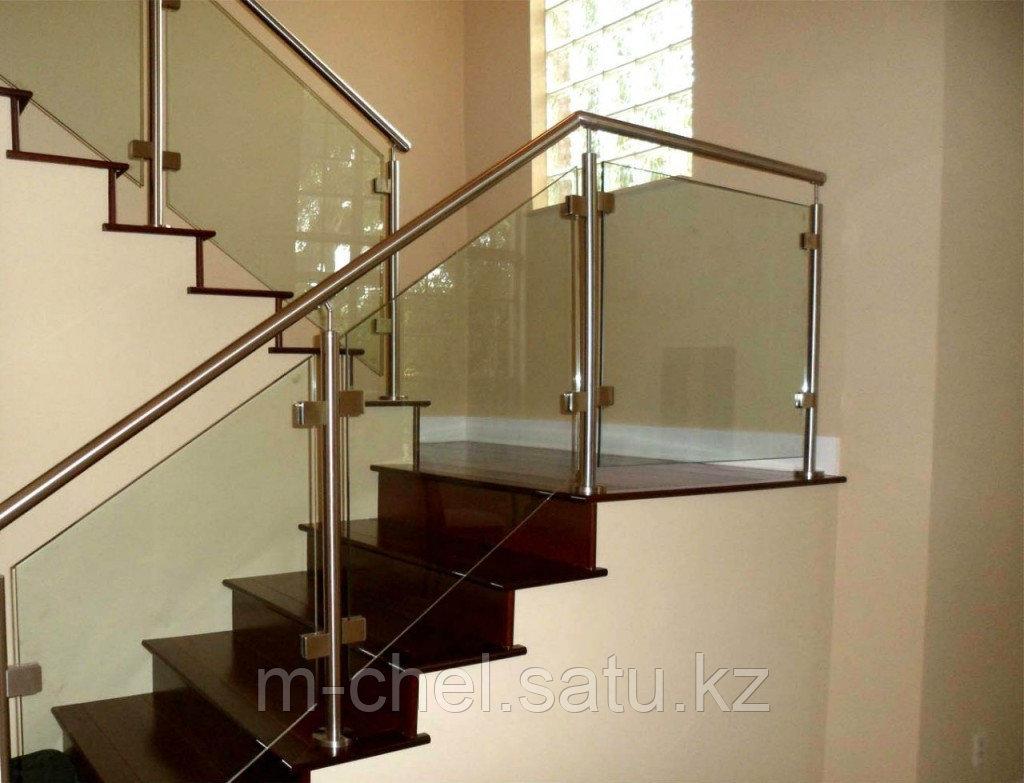 Поручни для лестниц стеклянные
