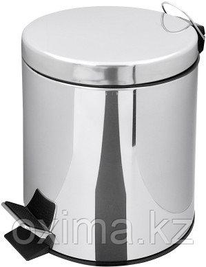 Педальная урна 8 литров металлическая (хром)