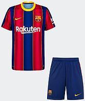 Футбольная форма ФК Барселона 2020-2021 домашняя Взрослая (комплект футболка+шорты)