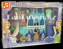 Замок для девочек с музыкальными и световыми эффектами и кукла Эльза 29008 (Холодное сердце)