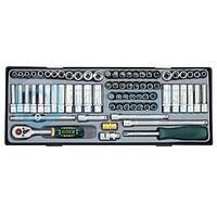 """2741 1/4"""" Набор инструмента FORCE c 6-ти гранными головками( 74пр) дюйм+метр"""