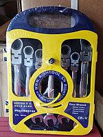 Набор ключей рожково-накидные трещеточные RIGHTOOL 7pcs