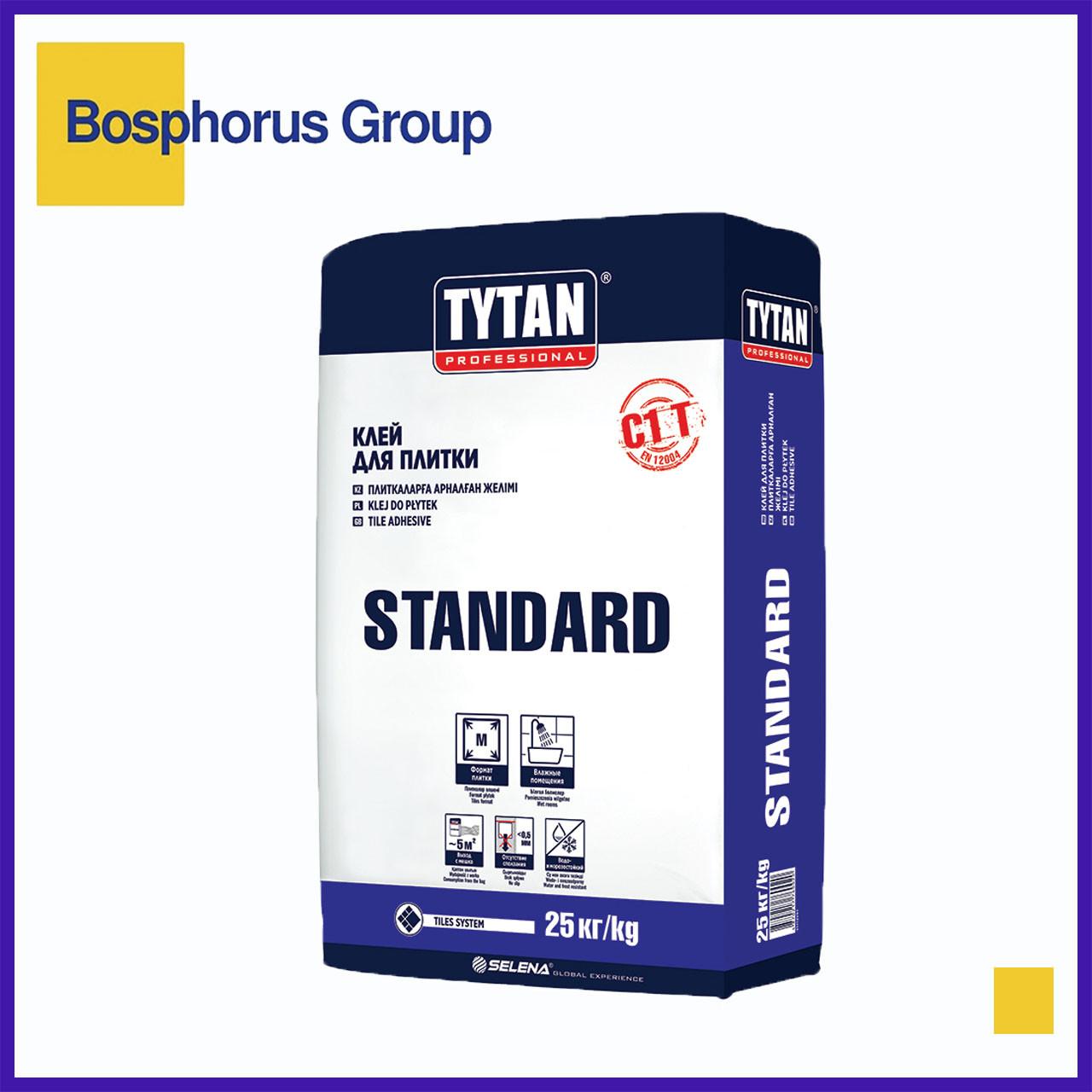 """Клей для плитки Tytan""""Standard"""", 25кг (для плиток размером <30x30 см)"""