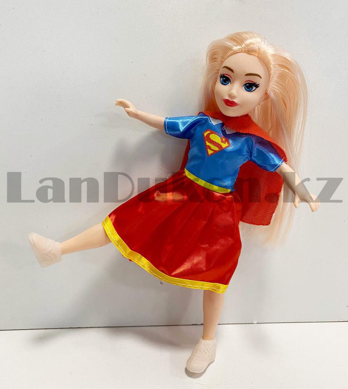 Кукла игрушечная детская Супер герл Super girl в костюмчике 24 см - фото 3