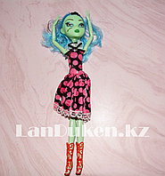 """Кукла для девочек ВЕНЕРА МАКФЛАЙТРАП """"Монстер хай"""" 26 см в черном платье в розовый горошек"""