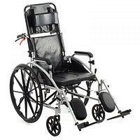 Кресло-коляска с откидной спинкой, туалетом, тормозами для сопровождающего МЕТ 988