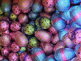 Яйцо шоколадное разноцветные 1кг