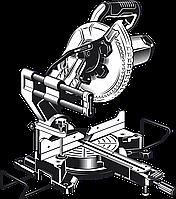 Пила торцовочная с протяжкой ЗУБР Профессионал, d 255 х 30 мм, 2000 Вт