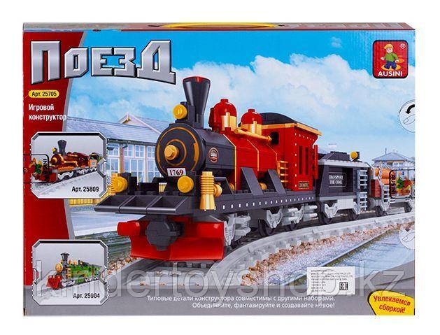 """Конструктор аналог Лего LEGO Ausini """"Старинный Грузовой поезд"""" 25705"""