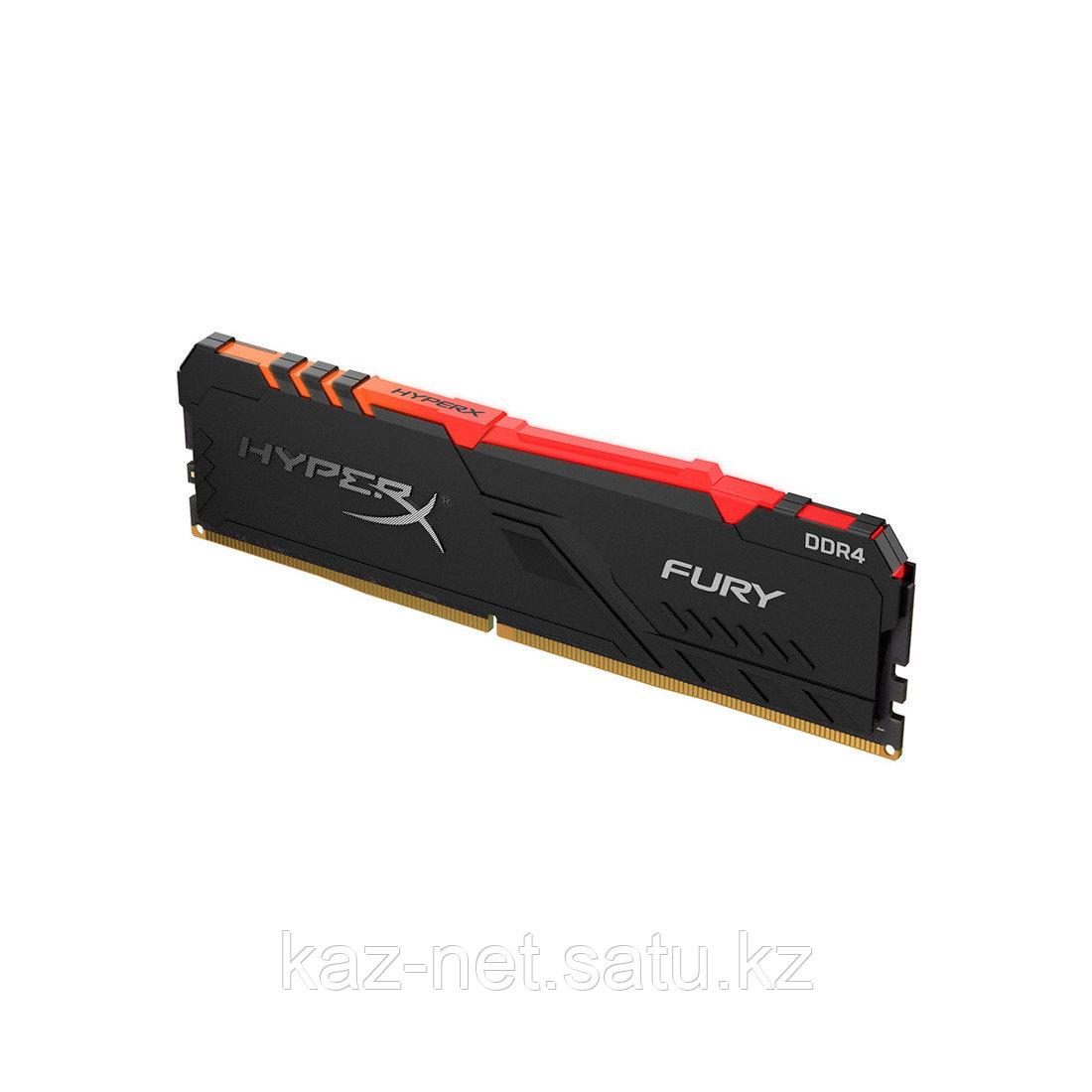 Модуль памяти Kingston HyperX Fury RGB HX426C16FB3A/8 DDR4 8G 2666MHz - фото 1