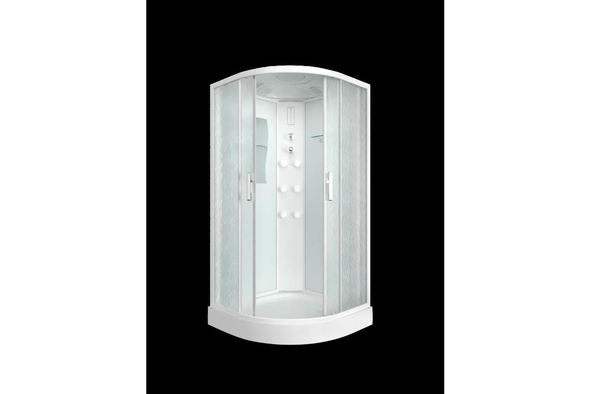 Душевая кабина ER5709P-C33 900*900*2150 низкий поддон, светлое стекло