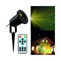 Лазерный проектор уличный/гирлянда/с пультом/много режимов/светомузыка/лазерное шоу!