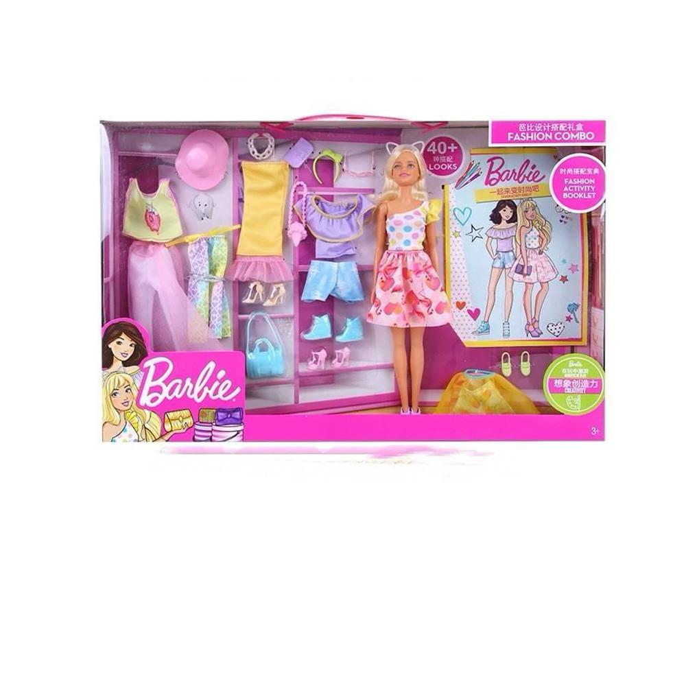 Игрушка игровой набор кукла Барби с комплектом одежды. Оригинал! - фото 1