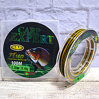 Леска  рыболовная толщина 0.25 мм разрывная нагрузка 9.1 кг 100 м Carp expert желтая и черная