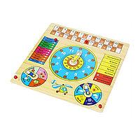 Детская игрушка развивающая Деревянный календарь