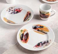 Набор посуды Машинки (3 предмета: тарелка d=20 см, миска d=20 см, кружка 210 мл)