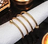 Кольцо для салфеток Спираль (d=4,5 см, цвет золотой)