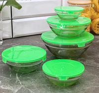 Набор салатников с крышками Классика, 5 шт
