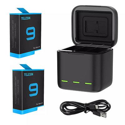 Комплект аккумуляторов TELESIN для GoPro HERO 9