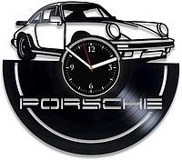 Настенные часы из пластинки Porsche 911 Порше 911, подарок фанатам, любителям, владельцам, 0012