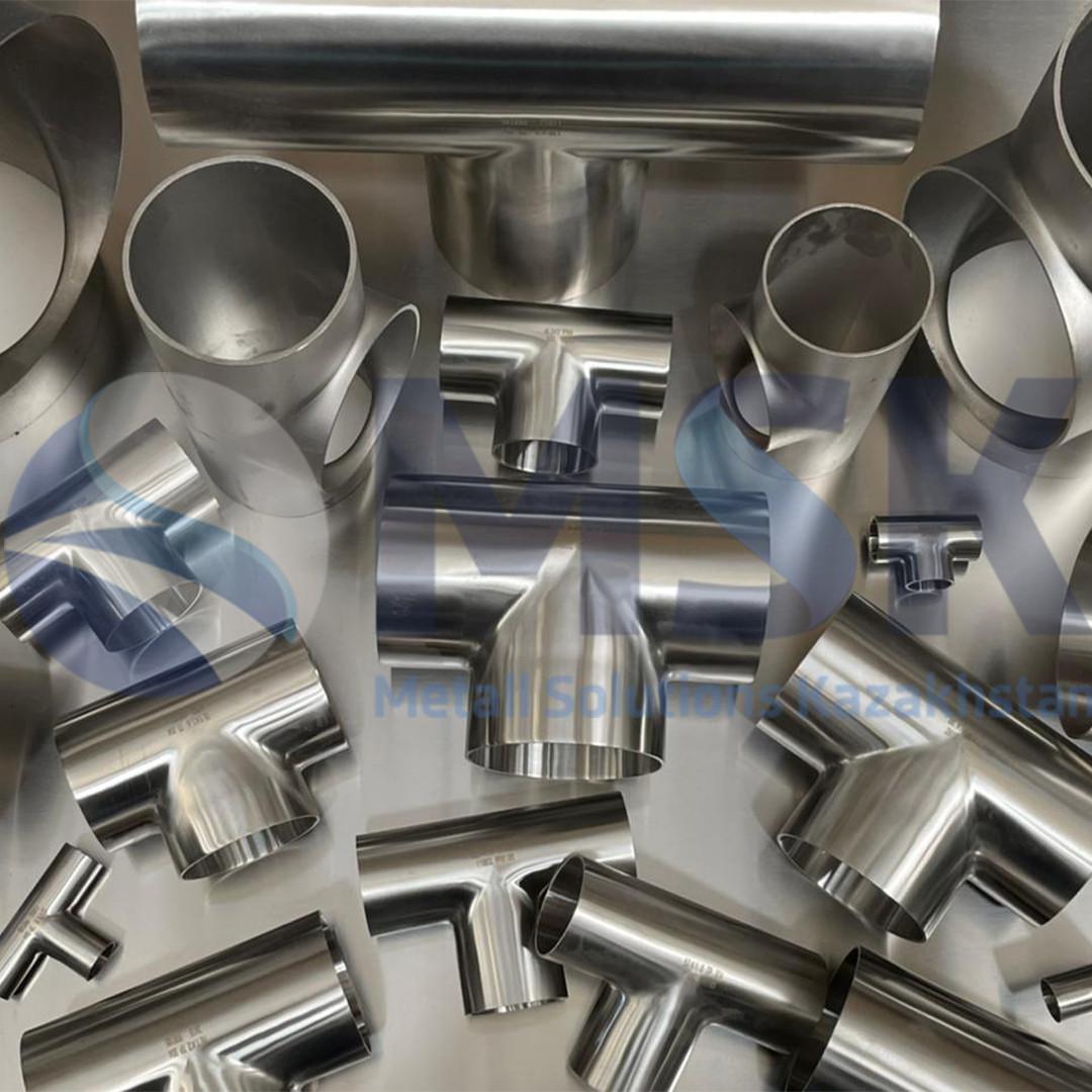 Тройники нержавеющие, сталь AISI 304, стандарт DIN 2615, EN 11852