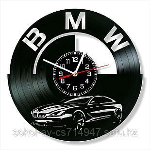 Настенные часы из пластинки BMW БМВ, подарок владельцам, фанатам, любителям, 0013