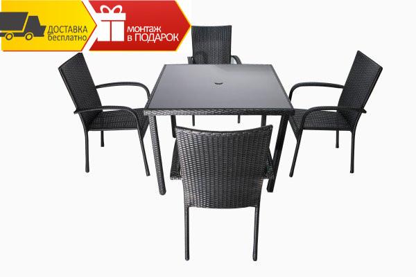Комплект мебели Moon (Квадратный стол+4 стулья )