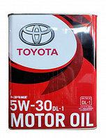 Оригинальное масло для дизельных двигателей TOYOTA DL-1 5w30 4L
