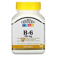 Витамин В6 21 Century 100 мг. 110 табл.
