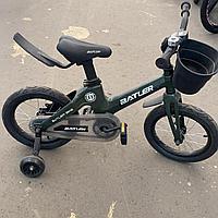 Детский двухколесный велосипед Batler bike 14 зеленый
