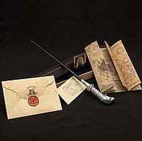 Набор Волшебная палочка Люциуса Малфоя+ Письмо из Хогвартса + Карта Мародеров + Билет на платформу 9 и 3/4 х5