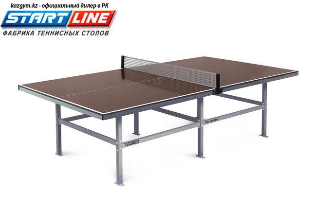 Влагостойкий теннисный стол Start Line City Outdoor 15 мм, с сеткой, фото 2