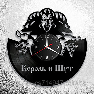 Настенные часы из пластинки Король и Шут, подарок фанатам, любителям, 0073