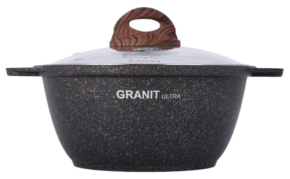 """Кастрюля 2 литра со стеклянной крышкой, """"Granit ultra"""""""