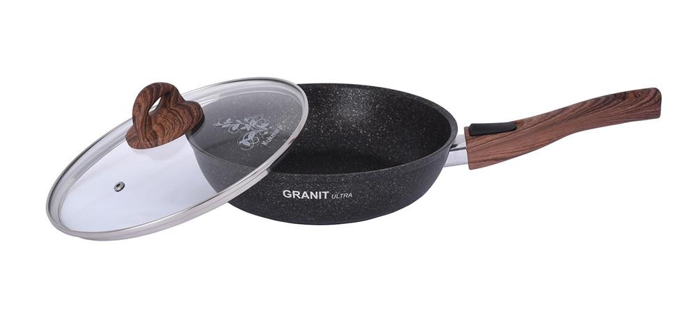"""Сковорода со съемной ручкой и ст. крышкой 260 мм, """"Granit ultra"""""""