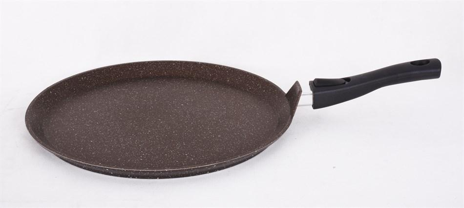 Сковорода-лавашница 350мм со съемной ручкой, антипригарное покрытие (кофейный мрамор)